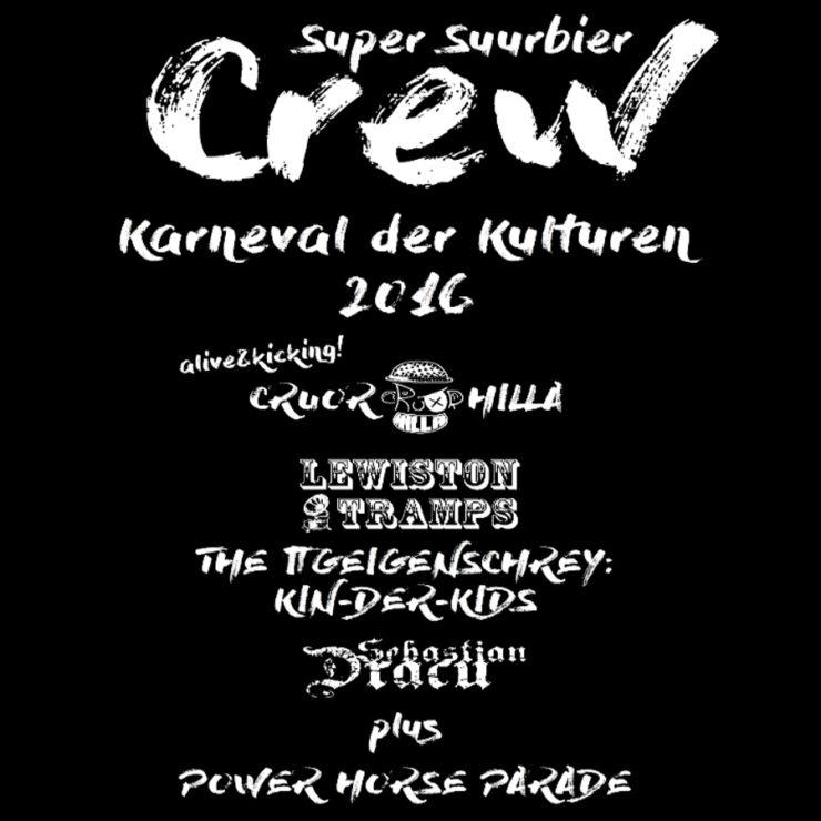 """T-Shirt """"Karneval der Kulturen 2016"""" (Aufdruck, Rückseite)"""